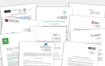 Cartas de interés y motivación en el proyecto