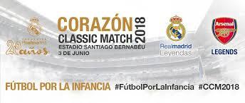 Fundación Real Madrid. Somos la app del Corazón Classic Match en el Santiago Bernabeu