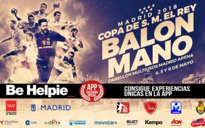 Be Helpie app oficial Final de la Copa del Rey de Balonmano